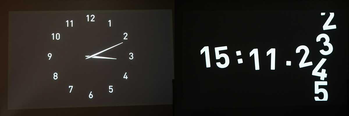 壁時計の画面画像