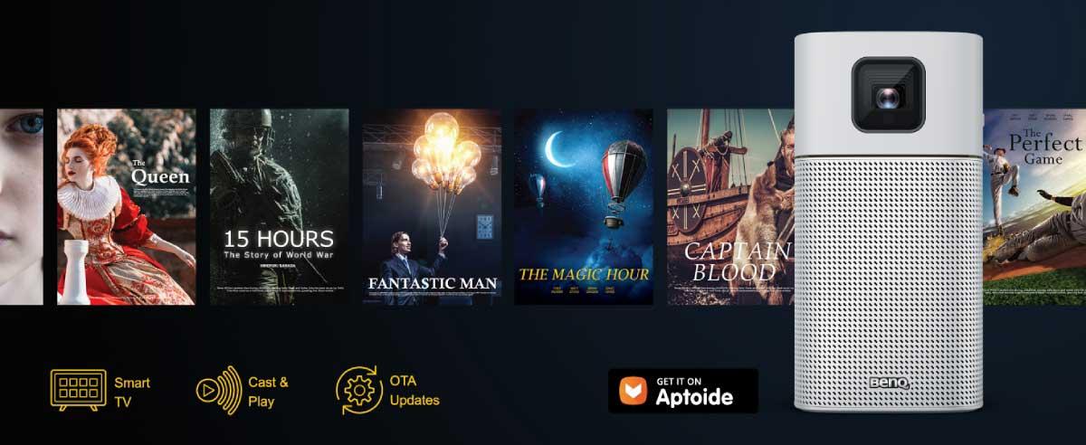 BenQ GV1「Aptoide TV」アプリイメージ画像