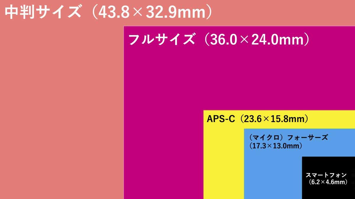 センサーサイズの比較図