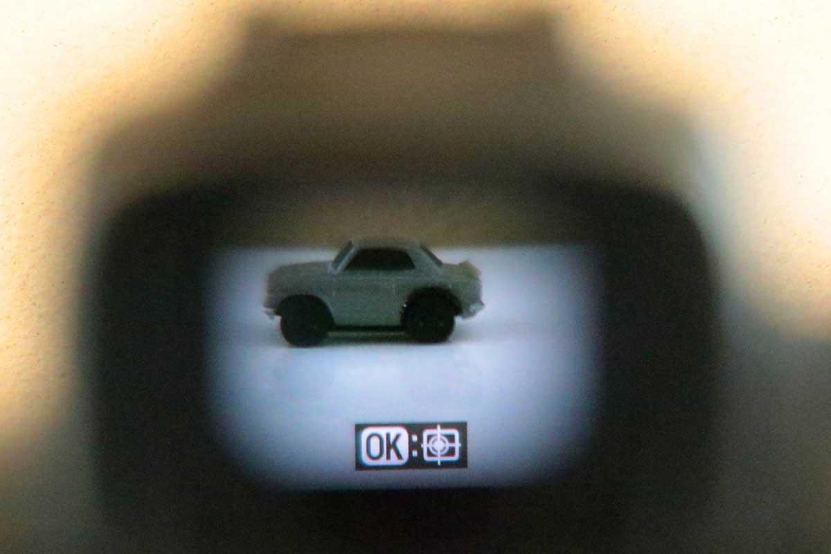 Nikon Z 50の有機ELパネルを採用した電子ビューファインダー画像