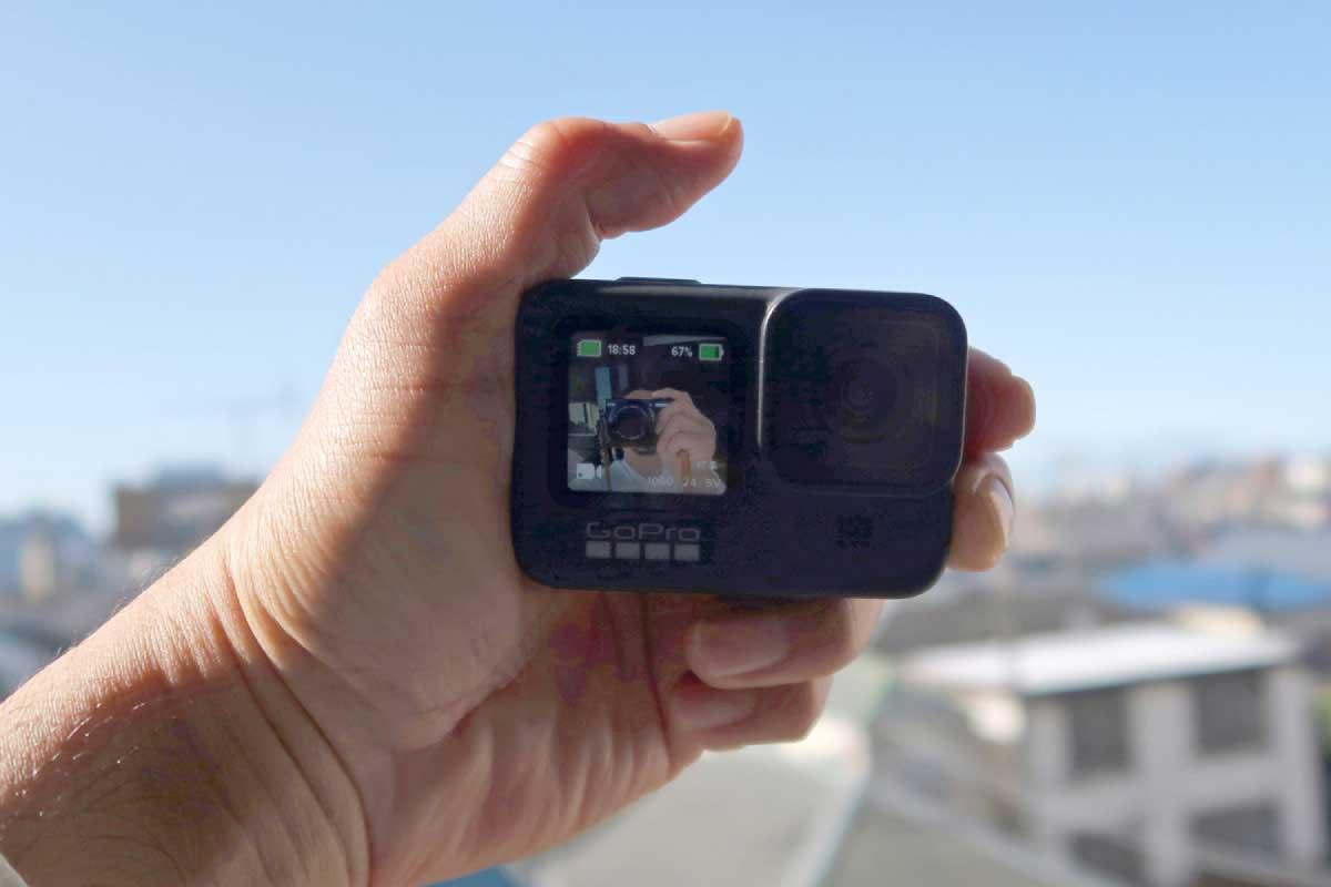 GoProの手のひらサイズイメージ画像