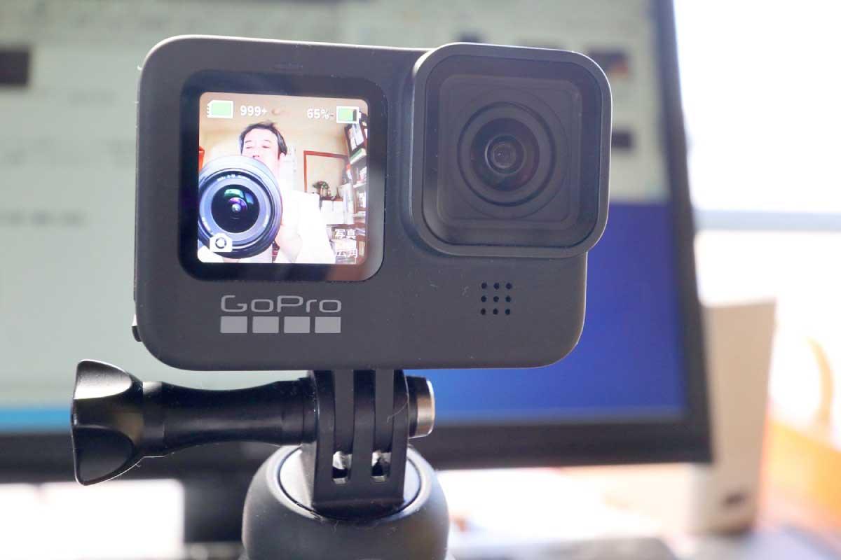 GoPro HERO9 Blackのフルカラーの前面液晶モニター画像