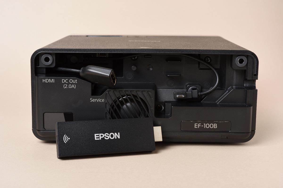 EPSON EF-100BATVの背面画像