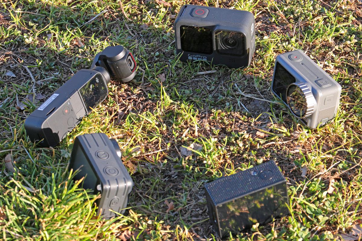 GoPro HERO9、Osmo Action、Osmo POCKET 2、M1034K、Brave 7 LEの円形集合画像