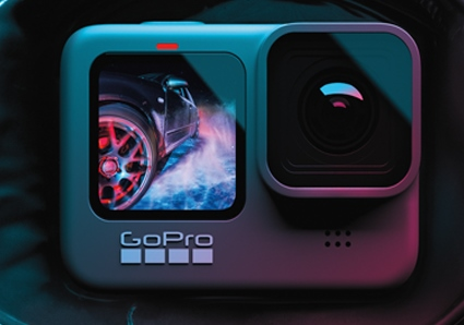 GoPro HERO9の前面液晶モニター