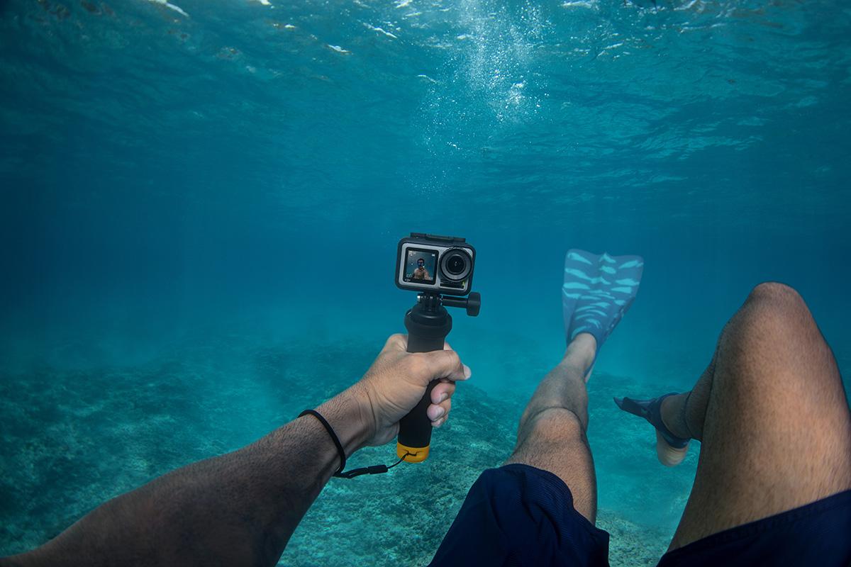 DJI Osmo Actionの水中撮影イメージ画像