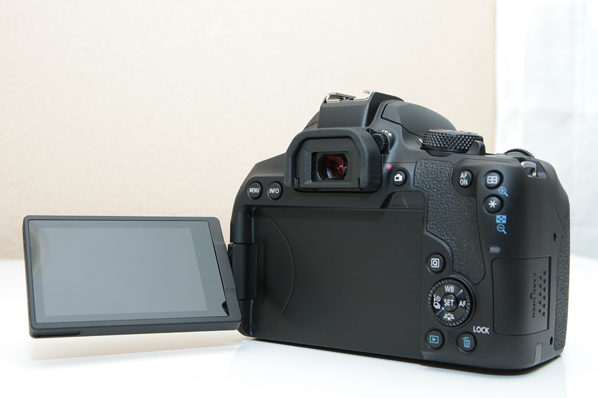Canon EOS 9000Dの背面モニター