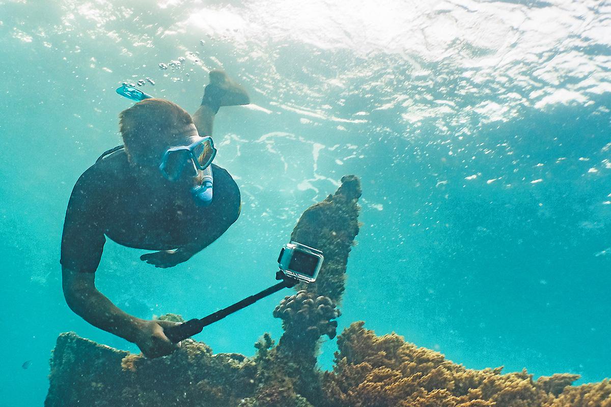 水中撮影のイメージ画像