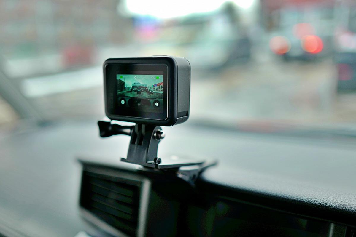 GoProの取り付け画像