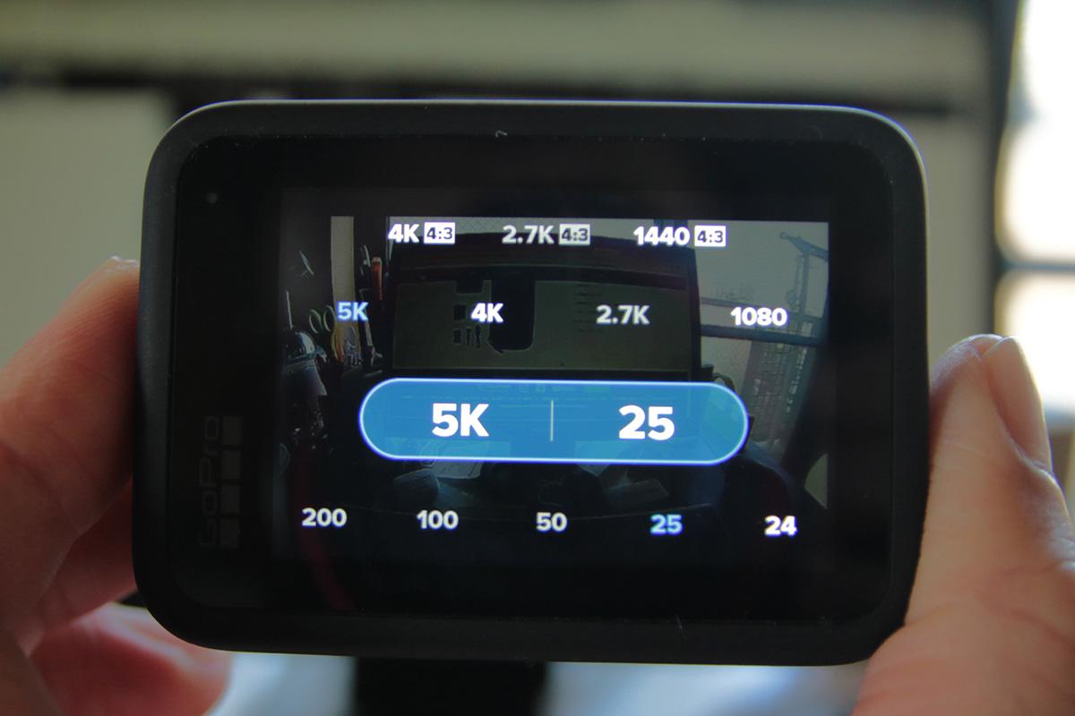 GoProの選択画面の画像