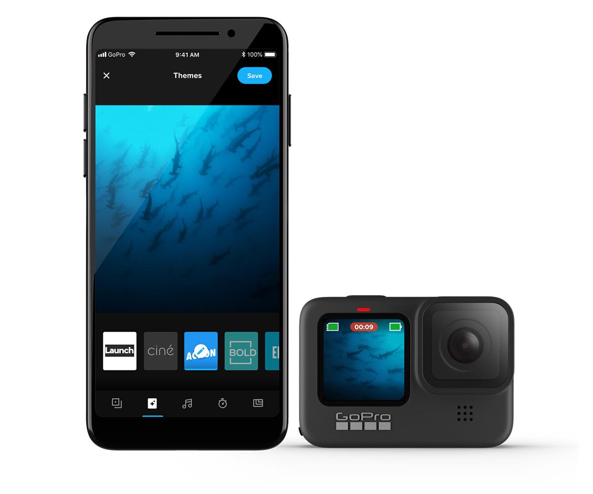 GoProのアプリ画面の画像