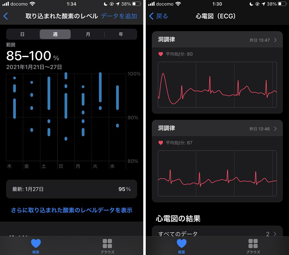 Apple Watch Series 6のアプリ画面画像