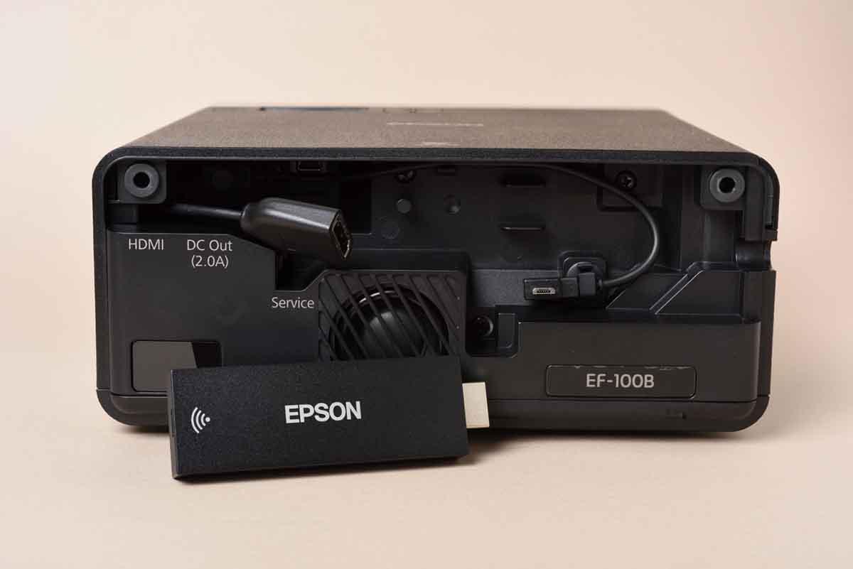 EPSON/EF-100BATVの背面画面