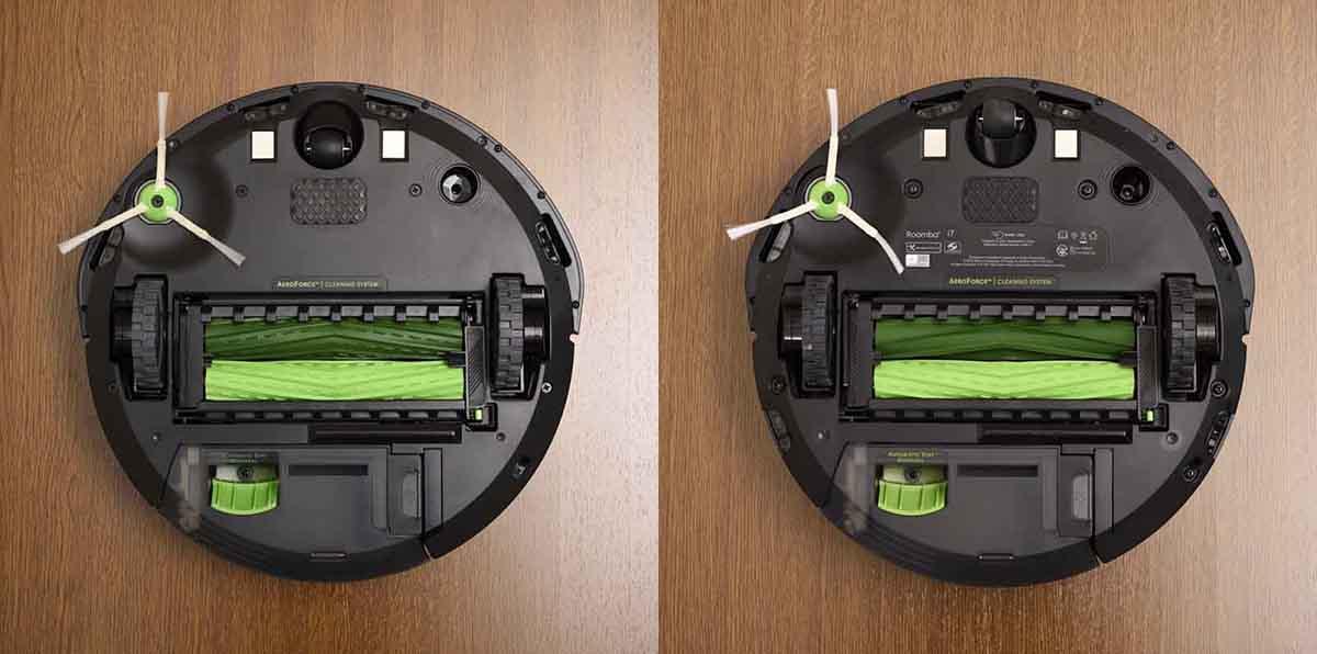ルンバ i3 およびルンバ i7の裏側画像