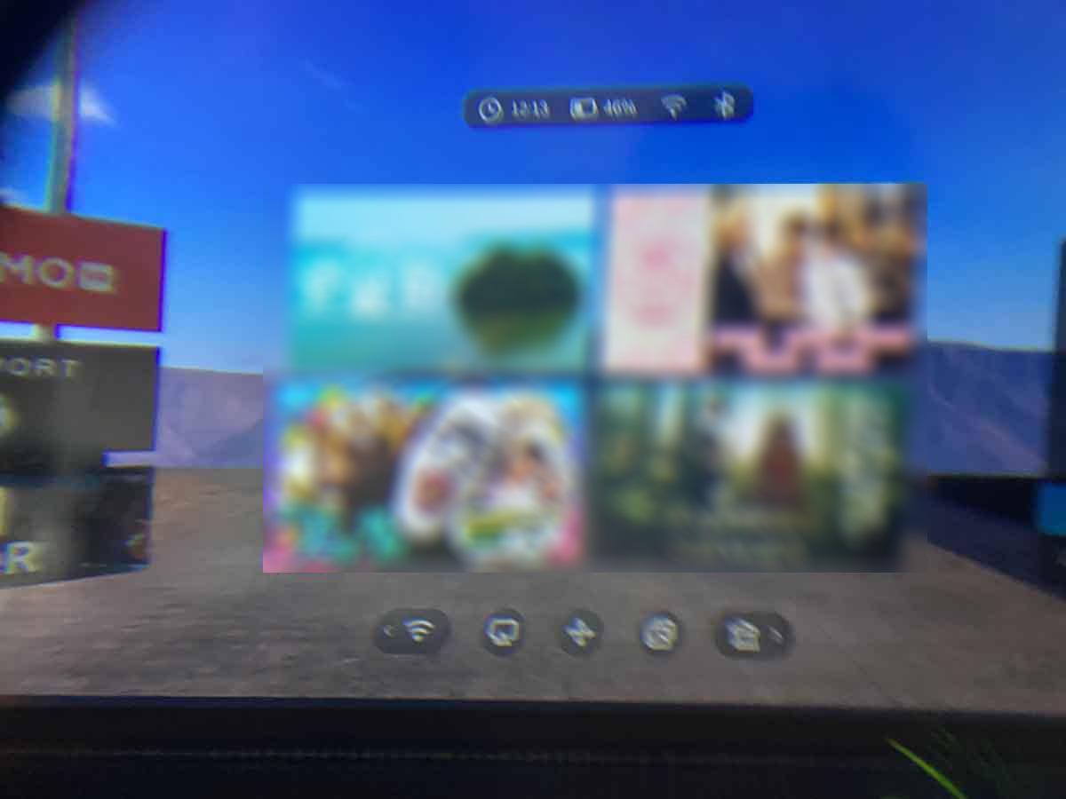 DPVR/DPVR P1 Pro 4Kの起動時画面