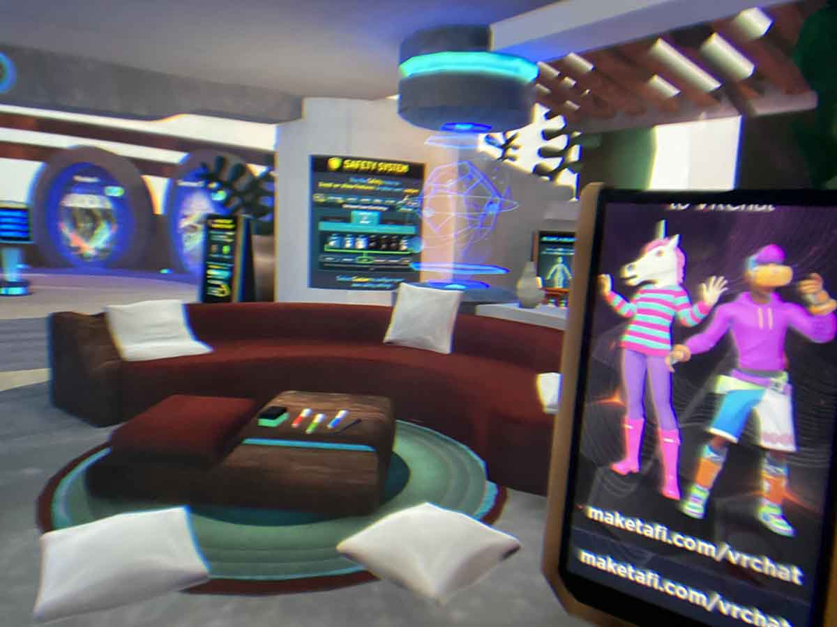 HTC/VIVE Cosmos EliteのVRchat画面