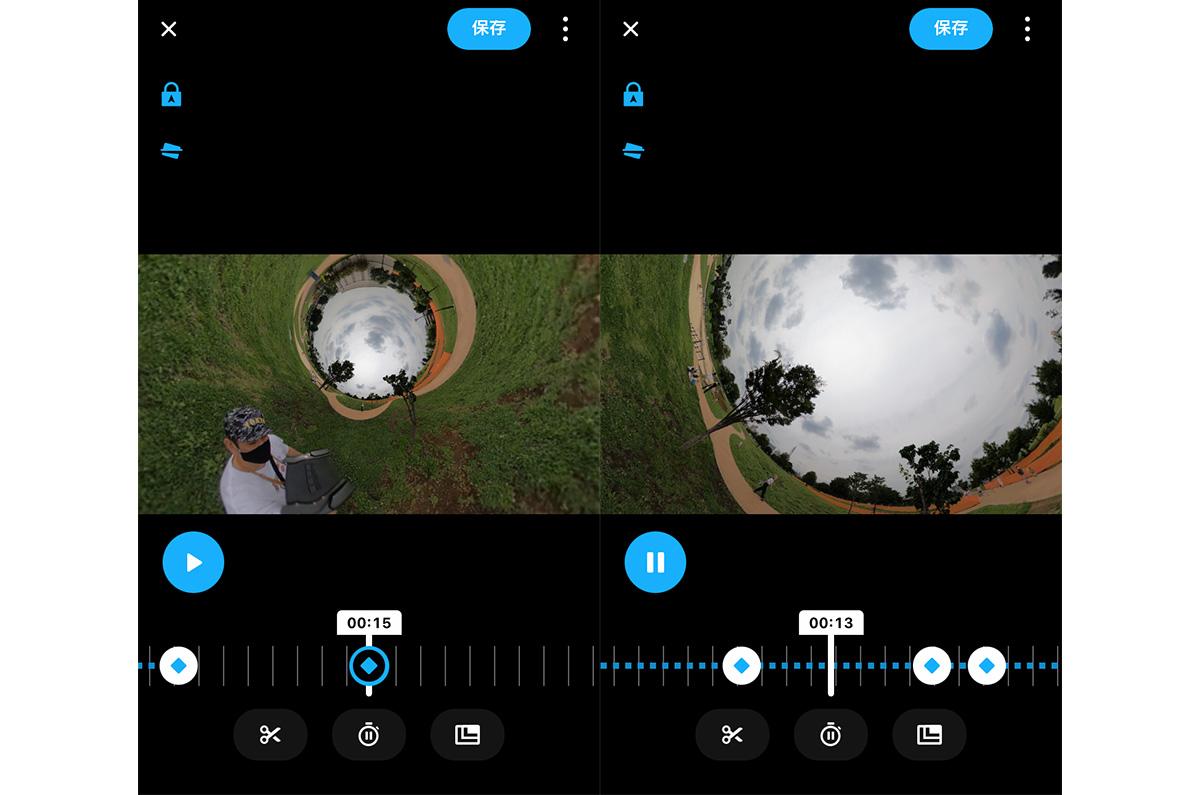 GoProアプリのキャプチャ画像