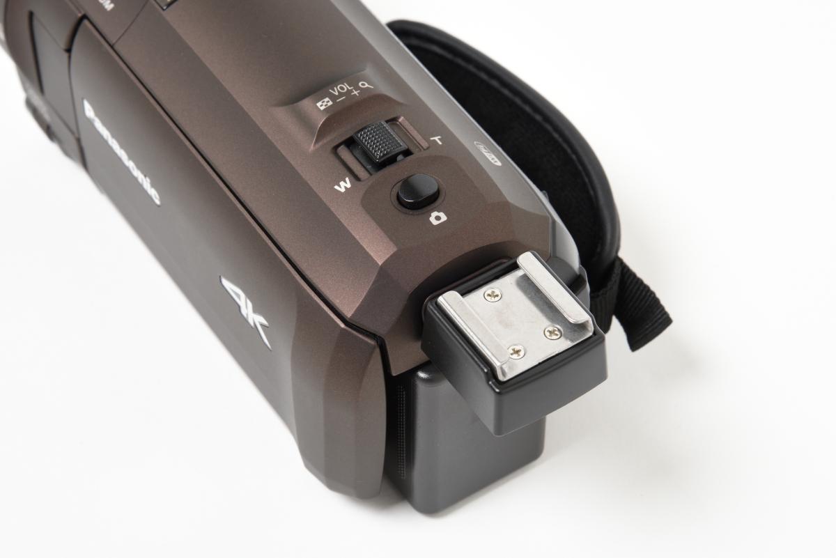 パナソニック/デジタル4Kビデオカメラ HC-VX992Mの外付けマイクスロット(アクセサリーシュー)
