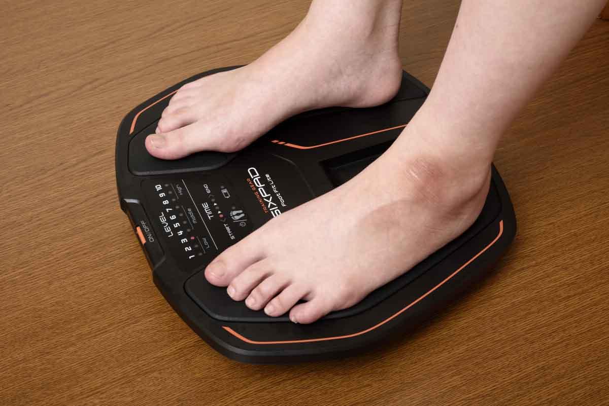 SIXPAD Foot Fit Liteを使用しているイメージ