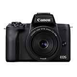 Canon ミラーレスカメラ EOS Kiss M2 ダブルレンズキット ブラック