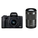 Canon ミラーレスカメラ EOS Kiss M2 ダブルズームキット ブラック