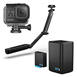 GoPro HERO8 Black アクションカメラ アクセサリーセット(3-way 他付属)