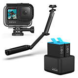GoPro HERO9 Black アクションカメラ アクセサリーセット(3-way 他付属)